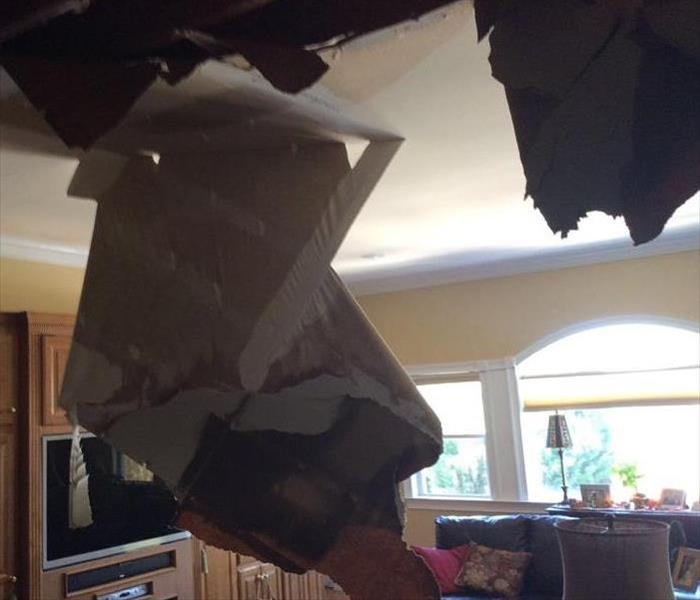 Ceiling Collapse After Upstairs Water Damage Before