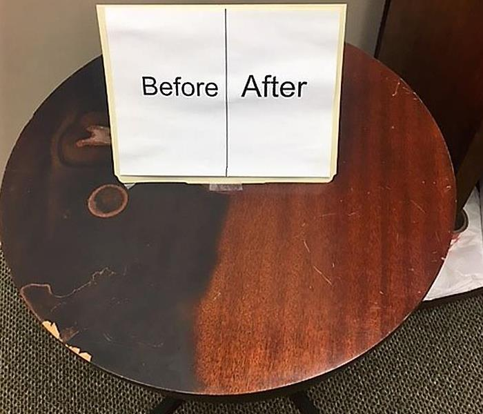 Smoke damaged furniture cleanup