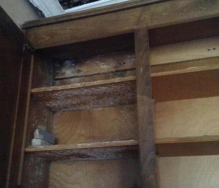Mold inside kitchen cabinets