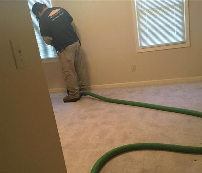 Water Damage Drying Out Your Bedroom Carpet After Water Damage In Your Huntsville Home